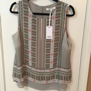 NWT Rose and Olive Sleeveless Top Sz Lg